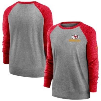 ナイキ レディース パーカー・スウェット アウター Kansas City Chiefs Nike Women's Gym Vintage Pullover Sweatshirt Charcoal/Heather