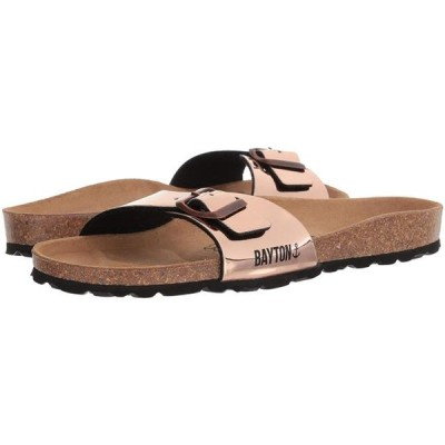 レディース 靴 ミュール Bayton Womens Zephyr Open Toe Casual Slide Sandals