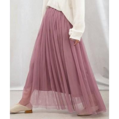 スカート ロングチュールスカート