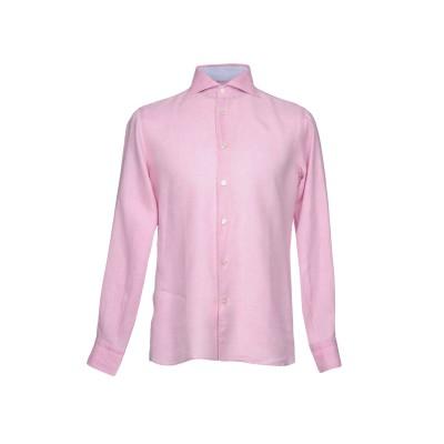 DOMENICO TAGLIENTE シャツ ピンク 40 ラミー 100% シャツ