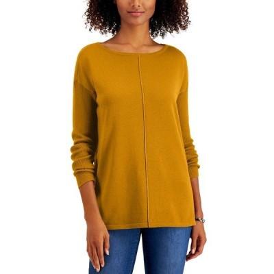 スタイルアンドコー ニット&セーター アウター レディース Petite Seam-Front Sweater Golden Sunrise