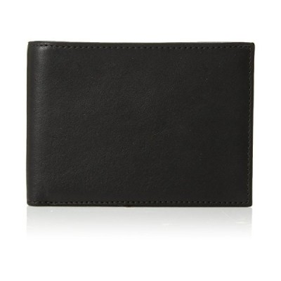 Bosca Nappa Vitello Collection - Credit Wallet w/ID Passcase Black Leather One Size