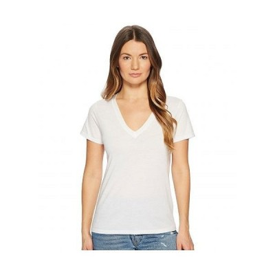 Vince ヴィンス レディース 女性用 ファッション Tシャツ Essential V-Neck Top - Optic White