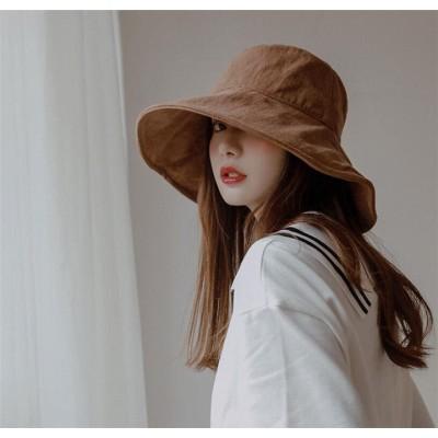 秋カラーで登場しました~✨ 漁師の帽子 簡約 大きなつば ビーチハット カジュアル 日焼け止めの帽子 INSスタイル 旅行太陽の帽子 百掛け ファッション 韓国 人気 帽子