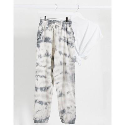 ミスガイデッド レディース カジュアルパンツ ボトムス Missguided two-piece sweatpants in tie dye print Multi