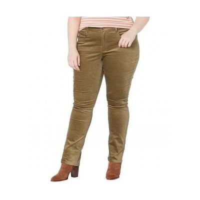NYDJ Plus Size エヌワイディージェー レディース 女性用 ファッション ジーンズ デニム Plus Size Marilyn Straight Velvet Jeans in Martini Olive - Marti..