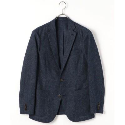 COMME CA ISM/コムサイズム メランジ カラミ テーラードジャケット ブルー L