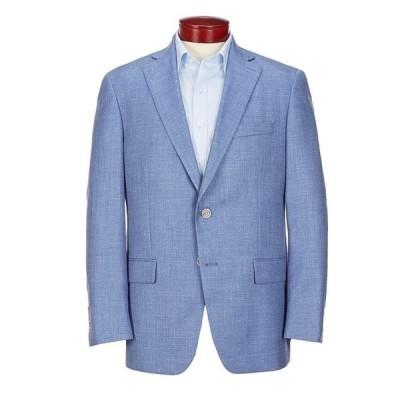 ハート シャフナー マルクス メンズ ジャケット・ブルゾン アウター Classic Fit Solid Blue Wool Blend Sportcoat