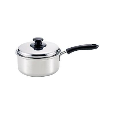 和平フレイズ 片手鍋 煮物 茹で物 スタイラールーチェ 18cm IH対応 ステンレス三層鋼 蓋付 日本製 SR-8912