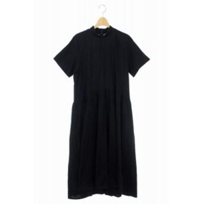 【中古】ルシェルブルー LE CIEL BLEU 19AW Jersey Volume Dress ワンピース ロング 半袖 36 黒 /KN ■OS レディース