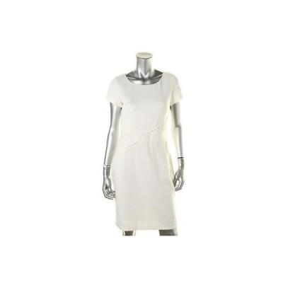 エレントレイシー ドレス ワンピース Ellen Tracy 3055 レディース アイボリー Ponte Pintuck Wear to Work ドレス 4 BHFO