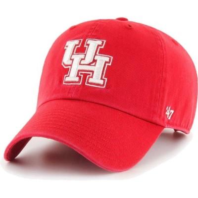 フォーティセブン 47 メンズ キャップ 帽子 Houston Cougars Red Clean Up Adjustable Hat