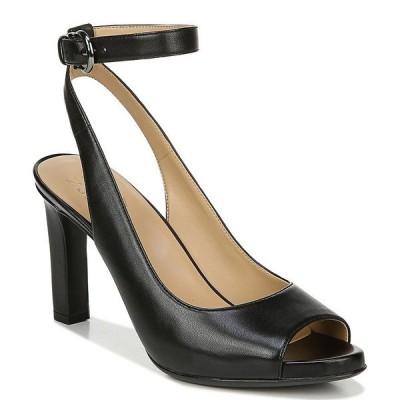 ナチュライザー レディース サンダル シューズ Orella Leather Peep Toe Dress Sandals Black Leather