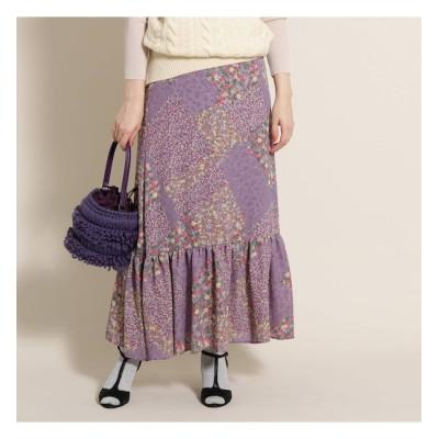 【アナトリエ/anatelier】 nesessaire 小花プリントペプラムマキシスカート