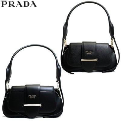 プラダ PRADA バッグ レディース ショルダーバッグ パッティーナ サフィアーノ 2way レザー ブラック ブランド 1bd168