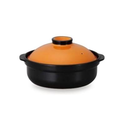 土鍋 宴(オレンジ/ブラック)9号 4〜5人サイズ土鍋