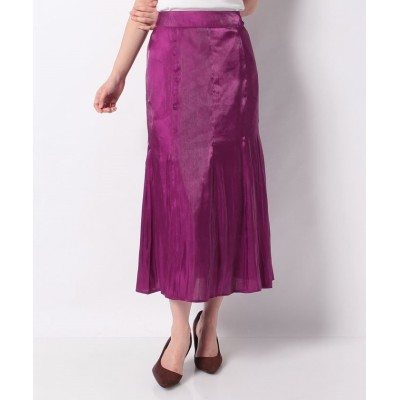 (NICE CLAUP OUTLET/ナイスクラップ アウトレット)【natural couture】オーロラサテンマーメイドスカート/レディース パープル
