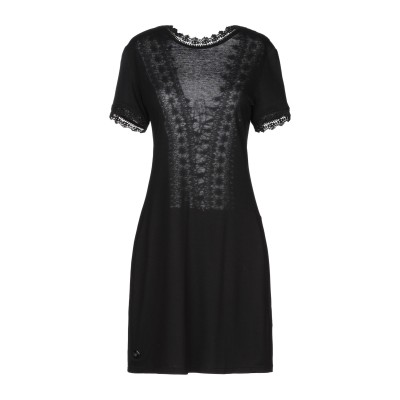 PHILIPP PLEIN ミニワンピース&ドレス ブラック XS レーヨン 95% / ポリウレタン 5% ミニワンピース&ドレス