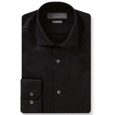 ペリーエリス メンズ シャツ トップス Premium Non-Iron Slim-Fit Spread-Collar Solid Twill Dress Shirt