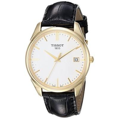 ティソ Tissot 腕時計 メンズ 時計 Tissot Men's T9204101601100 Analog Vintage Quartz Black Leather 18k Gold Watch