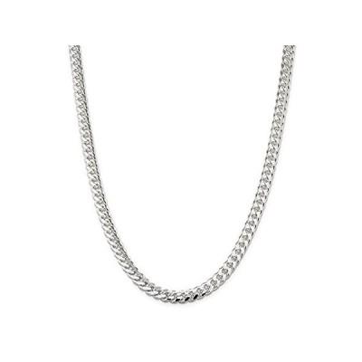 【イチオシ厳選】Solid 925 Sterling Silver Men's 7mm Domed Curb Cuban Chain Necklace - with