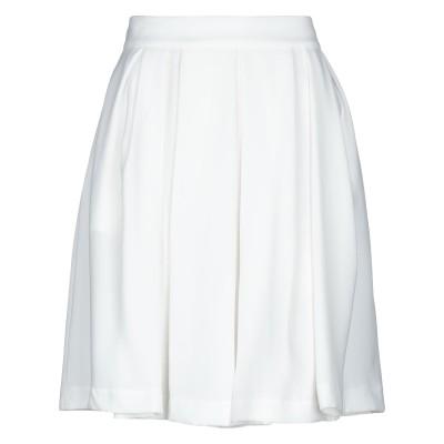 TRE PIUME ひざ丈スカート ホワイト 42 レーヨン 60% / ポリエステル 40% ひざ丈スカート