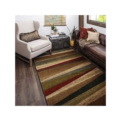 特別価格Mohawk Home Mayan Sunset Sierra Stripe Area Rug, 5'x8', Tan好評販売中