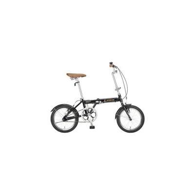 キャプテンスタッグ 折りたたみ自転車 16インチ シングルギア(ブラック) CAPTAIN STAG AL-FDB161 YG-0228 返品種別B