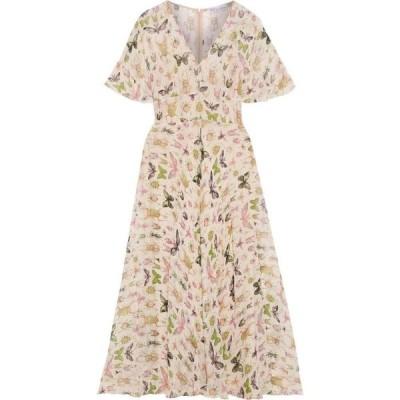 レッド ヴァレンティノ REDValentino レディース ワンピース ミドル丈 ワンピース・ドレス printed silk-georgette midi dress Pastel pink