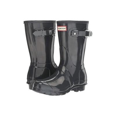 ハンター Original Short Gloss Rain Boots レディース ブーツ Dark Slate
