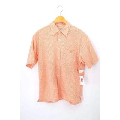 ジェイクルー J.CREW シアサッカーギンガムチェックシャツ メンズ M 中古 210319