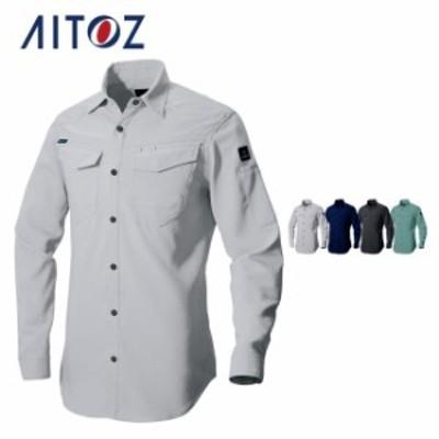 AZ-2935 アイトス 長袖シャツ(男女兼用)(薄地) | 作業着 作業服 オフィス ユニフォーム メンズ レディース