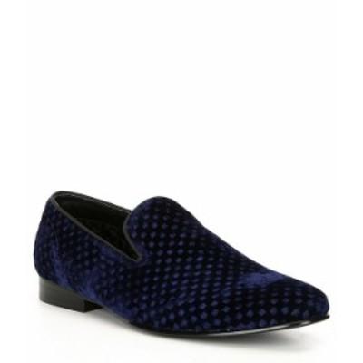 スティーブ マデン メンズ スリッポン・ローファー シューズ Men's Velvet Lifted Slip On Loafer Blue