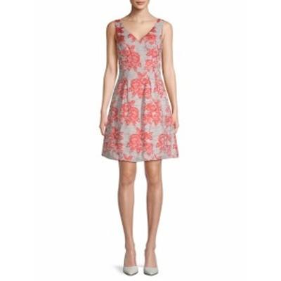 ドナリッコ レディース ワンピース Brocade V-Neck Fit-&amp-Flare Dress