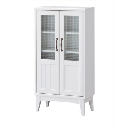 【送料無料】ガラスキャビネット RTA-1155G 食器棚 カップボード 収納 木製 おしゃれ フレンチ 収納家具 キッチン収納 リビング収納  カップボード 引き出し 木