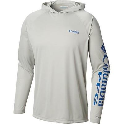 (取寄)コロンビア メンズ ターミナル タックル ヘザー フーディ Columbia Men's Terminal Tackle Heather Hoodie Cool Grey Heather / Vivid Blue Logo