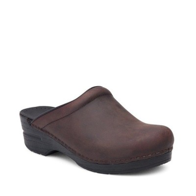 ダンスコ レディース サンダル シューズ Sonja Leather Clogs Antique Brown Oiled