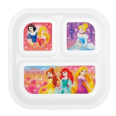 ディズニー スクエアランチプレート「プリンセス」13302!ランチ皿・仕切り皿!当日発送 プレゼント キャラクターグッズ通販