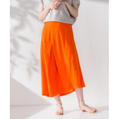 (socolla/ソコラ)【socolla】イレギュラーヘムベルテッドスカート/レディース オレンジ
