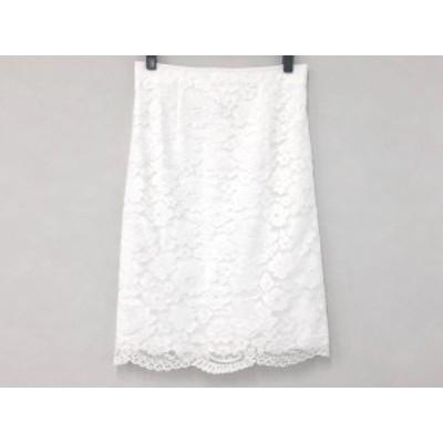 ナラカミーチェ NARACAMICIE スカート サイズ3 L レディース 美品 アイボリー レース/花柄【中古】20200527