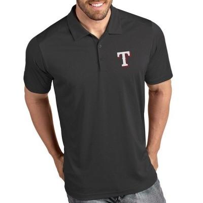 アンティグア メンズ ポロシャツ トップス MLB American League Tribute Short-Sleeve Polo Shirt Texas Rangers Smoke