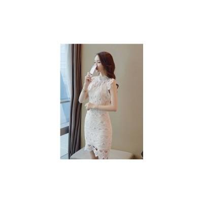 ドレス レース 大人 エレガント 結婚式 fe-0084