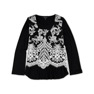 レディース 衣類 トップス Karen Kane Womens Flare SLV Pullover Blouse Black Small ブラウス&シャツ