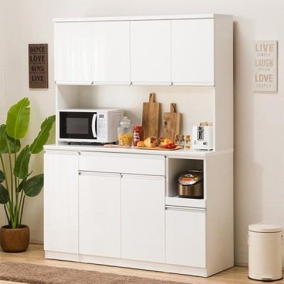 食器棚(レジューム 150TF-H WH/150TH-R WH) ニトリ 『配送員設置』 『5年保証』