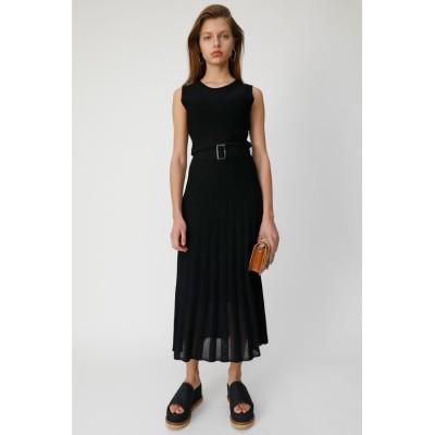PLEATS LONG KNIT ドレス