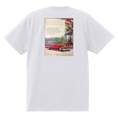 アドバタイジング ビュイック 257 白 Tシャツ 1958 エレクトラルセーブル インビクタ オールディーズ ローライダー