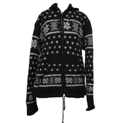 ジャケット 訳あり アジアン衣料 男女兼用 ネパール手編みウールジャケット15