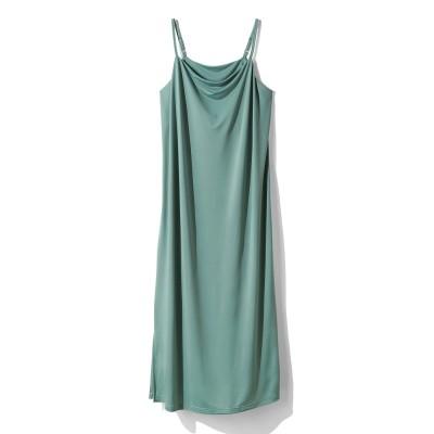 リゾート気分でまどろむ とろみドレープが大人っぽい キャミドレスの会 フェリシモ FELISSIMO