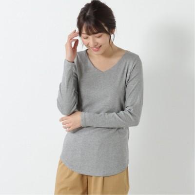 フライスVネックTシャツ【M―4L】