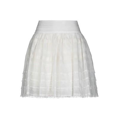 シルビアンヒーチ SILVIAN HEACH ミニスカート ホワイト S シルク 60% / コットン 40% ミニスカート